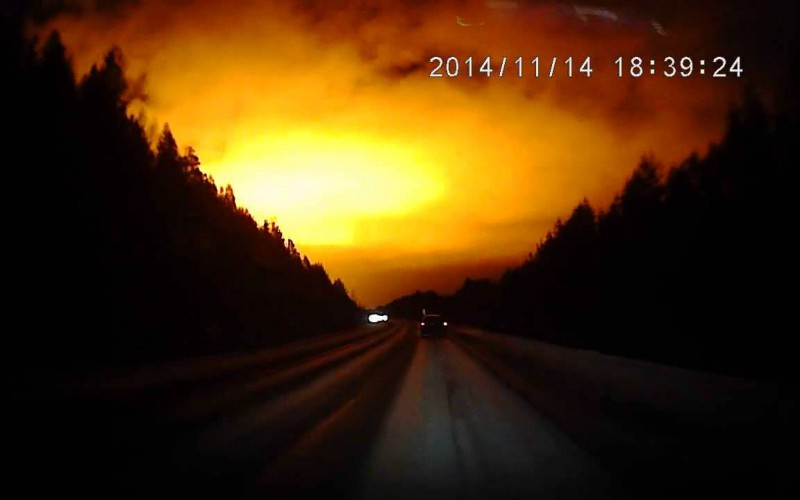 Insolite : Explosion dans le ciel de Russie