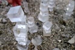 Etrange : la mer morte forme des cubes parfaits
