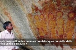 Des peintures découvertes en Inde en 2014 représentent-elles des E.T ?