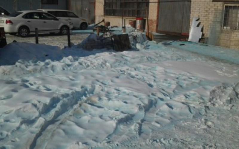 Russie: De la neige bleue tombe à l'endroit même où un météore s'est écrasé l'an passé