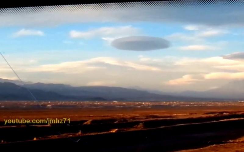Un nuage en forme de vaisseau mère au Chilie
