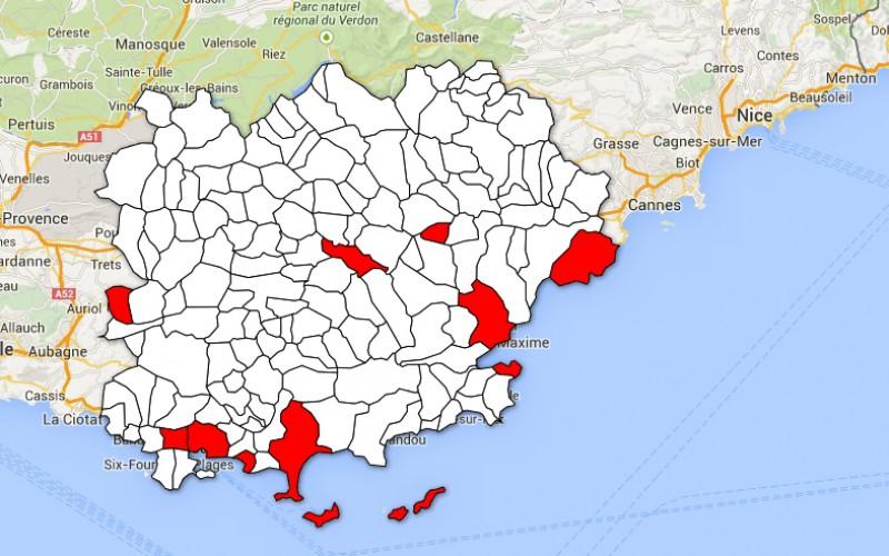 Carte des ovnis dans le Var, quatre cas énigmatiques