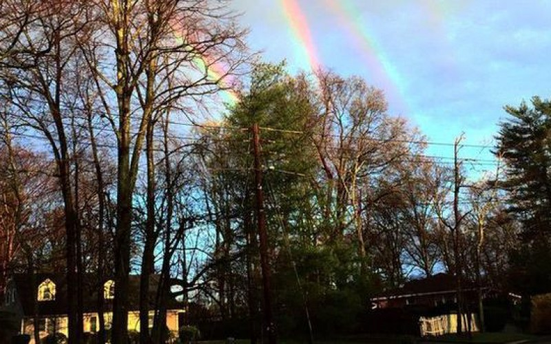 La photo d'un quadruple arc-en-ciel divise la Toile