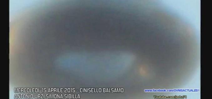 Un ovni bien distinc filmé à Milian (Italie, 15.04.2015)