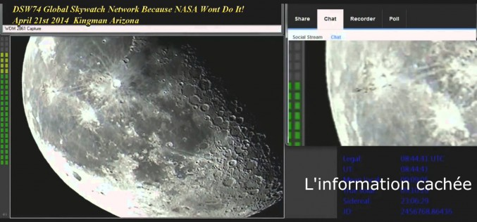 Une flotte d'Ovnis qui passe devant la Lune ? (06/04/2015)