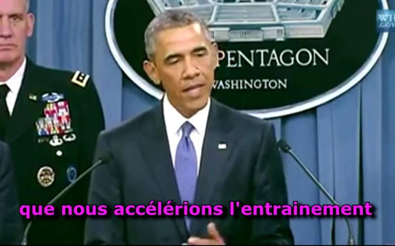 Obama fait un lapsus et parle de l'entraînement des forces d'Isis