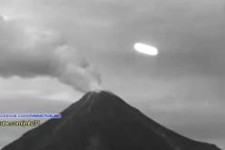 Un ovni survol le volcan Colima (Mexique 04.07.2015)