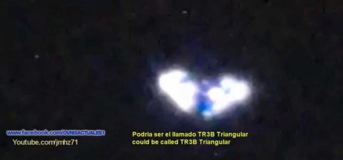 Un ovni triangulaire type TR3B filmé de nuit à Tijuana Mexico (17.07.2015)