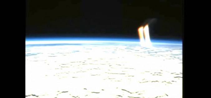 Énorme faisceau de lumière apparaît au-dessus de la Terre (Image ISS)