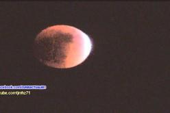 Un ovni observé au Mexique pendant l'éclipse de Lune du 27/09/2015