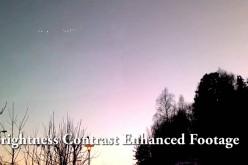 """Etrange """"guirlande"""" d'ovnis filmée en Norvège (29/09/2016)"""