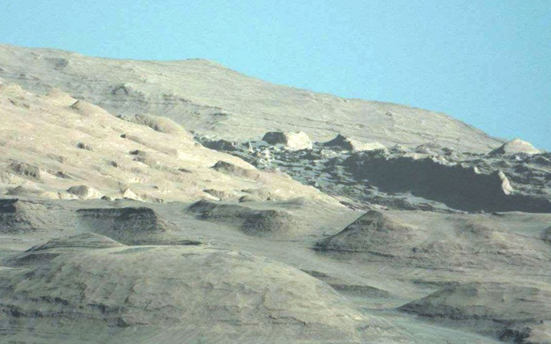 Photos de curiosity (Nasa), le ciel bleu de Mars