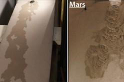 De l'eau bouillante coule sur Mars