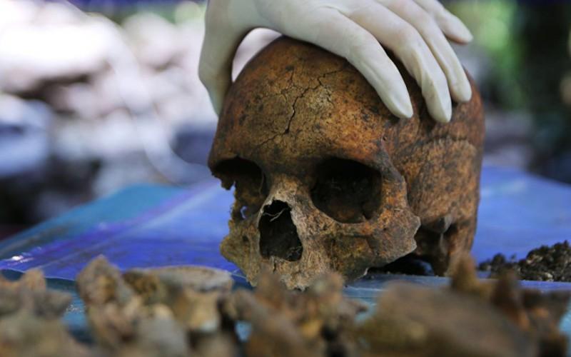 """Le crâne d'une """"étrangère"""" retrouvé à Teotihuacan"""