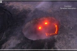 Hawaii: Un smiley apparaît dans le volcan Kilauea