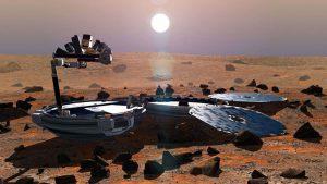 une-vue-d-artiste-realisee-en-2002-representant-la-sonde-beagle-2-a-la-surface-de-la-planete-mars_5188949