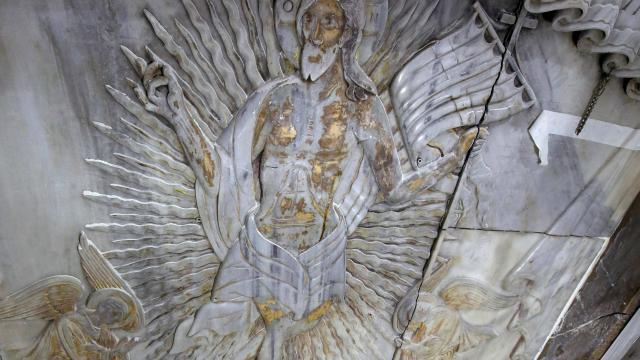 tombeau du christ d couverte d une myst rieuse plaque de marbre top secret. Black Bedroom Furniture Sets. Home Design Ideas