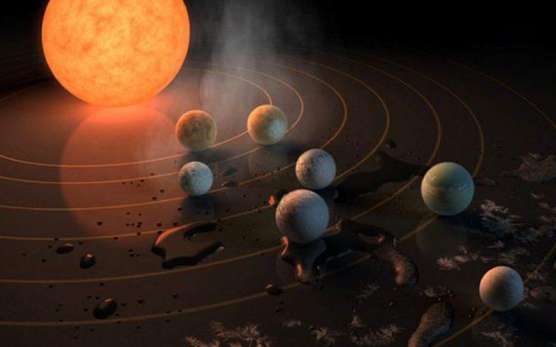Incroyable découverte : une étoile, sept planètes et une vie possible !